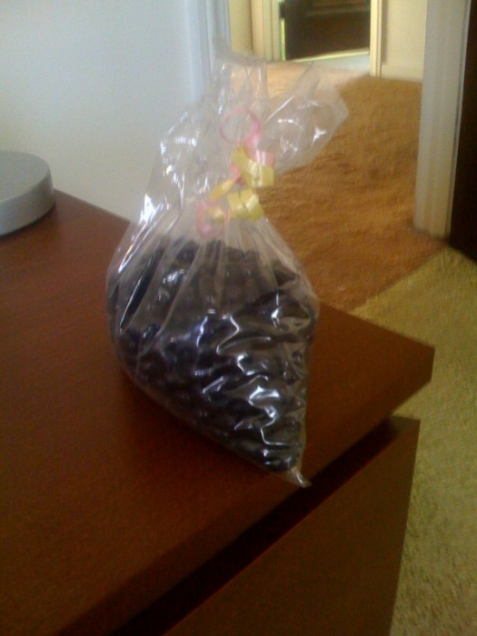 Perhaps my favorite thing about Easter. I get a bag of black jelly beans. They're all mine.