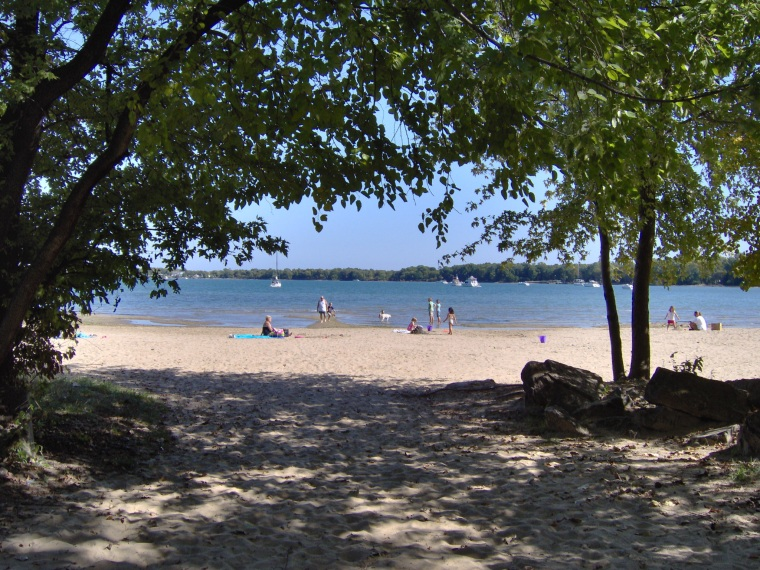 The beach at Kelleys Island State Park. It's not the ocean, but it's still going to be awfully nice way to spend next week.