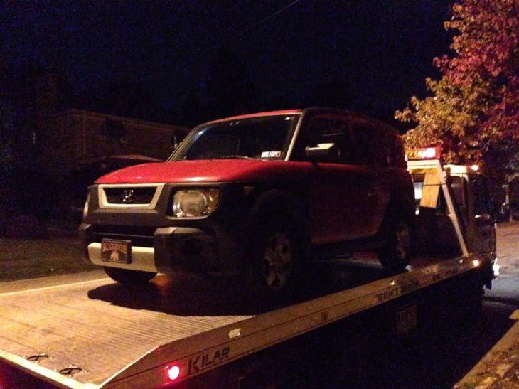 my car towed