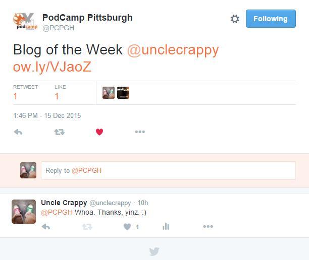 blog o the week